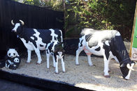 Sun Proof Lifelike Animatronic Animals / Milk Cow Customization Acceptable