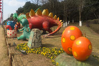 Silicon Ruber Outdoor Playground Fiberglass Dinosaurs Colors Diversified