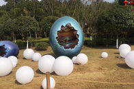 Fiberglass Lifelike Shopping Mall Dinosaur Egg Model , Dino Hatch Egg