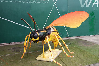 Cina Sun Proof Giant Insect Artificial, Animatronic Bee With Stripe Realistis pabrik