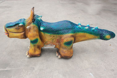 Cina Indoor / Outdoor Ukuran Kehidupan Animatronic Dinosaur Ride Custom Design Support pabrik